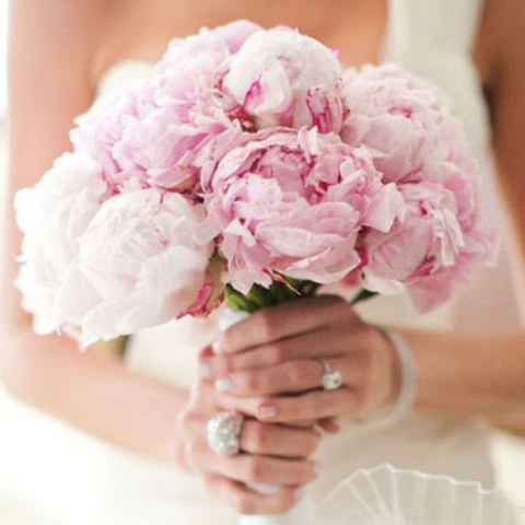 Pink Peony Bridal Wedding Bouquet