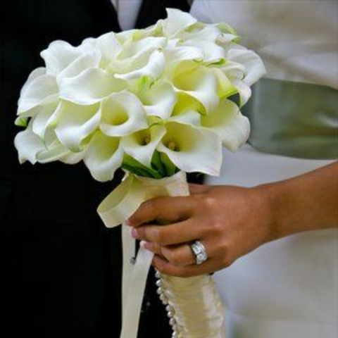 White Calla Lily Bridal Bouquet