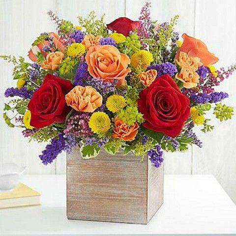 get well soon flower basket