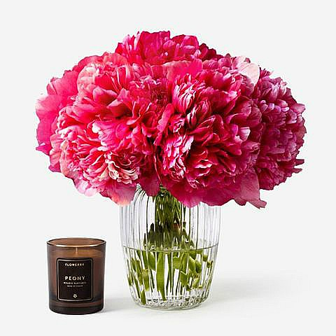 Red Peony Bouquet Delivery