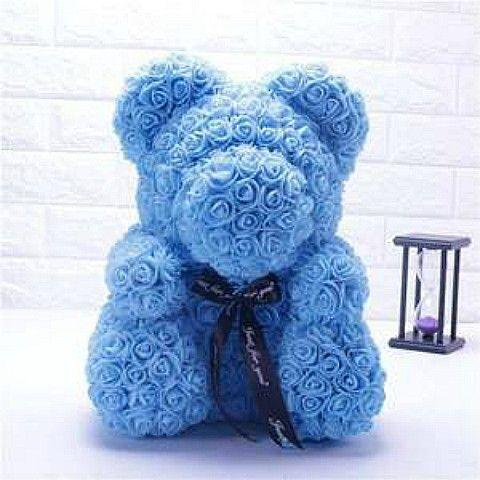 Blue Rose Teddy Bear Delivery