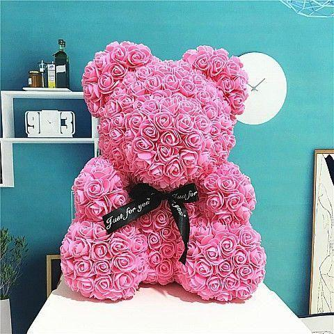 Pink Rose Teddy Bear Delivery