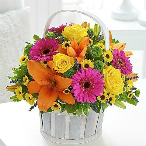 Colorful Flower Basket